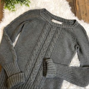 American Eagle Sweater Cable Knit Gray Small